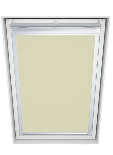 Roof Blinds Luna Blackout Cream - White Frame